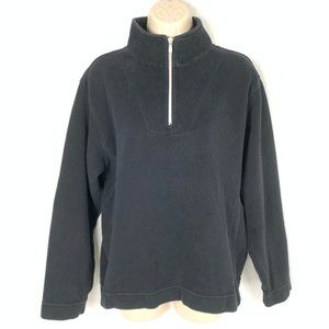 Tommy Bahama Black 1/4 Zip Pullover Sweater Large